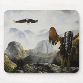 Native American Painting~ Welcome Friend Mouse Pad