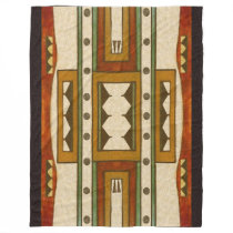 Native American Pattern: Cheyenne Design 1860's Fleece Blanket