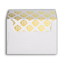 Native American Pattern Gold Lined Envelopes Inv