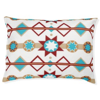 Native American Pattern Large Dog Bed
