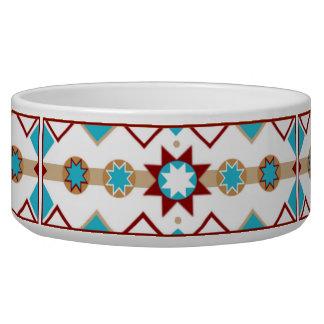 Native American Pattern Pet Bowl