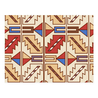 Native American Pattern Post Card