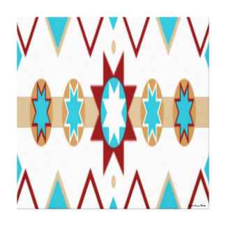 Native American Pattern Stretched Canvas Print