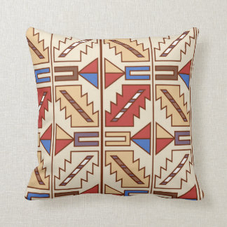 Native American Pattern Throw Pillow
