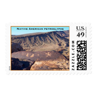Native American Petroglyphs #1 postage stamps