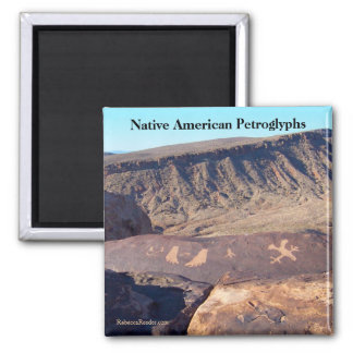 Native American Petroglyphs Photo Magnet