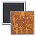Native American petroglyphs, Rochester Panel, 2 Inch Square Magnet