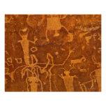 Native American petroglyphs, Rochester Panel, Posters