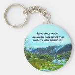 native american philosophy basic round button keychain