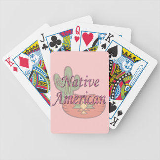 Native American  pink Bicycle Playing Cards
