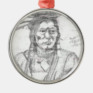 NATIVE AMERICAN.PNG Native American Drawing Christmas Ornament