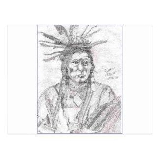 NATIVE AMERICAN.PNG Native American Drawing Postcard