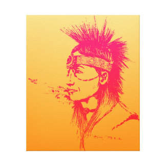 NATIVE AMERICAN - POP-ART CANVAS PRINT