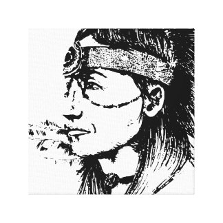 NATIVE AMERICAN POP-ART CANVAS PRINT