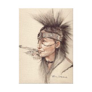 NATIVE AMERICAN - POP-ART INDIAN CANVAS ORIGINAL