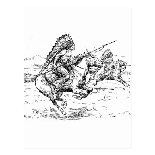 Native American Postcard