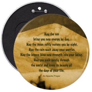 Native American prayer Button