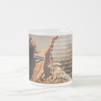 Native American Prayer Frosted Mug White