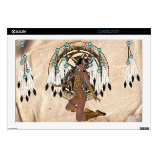 Native American Princess and Mandala Laptop Skin