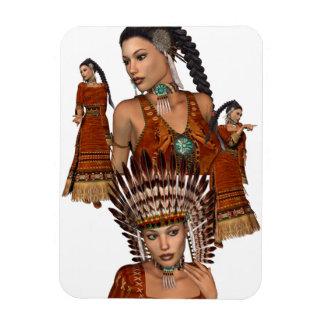 Native American Princess Flexible Magnet