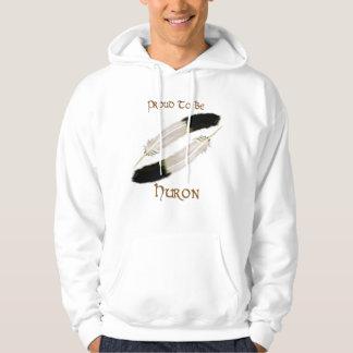 "Native American 'PROUD TO BE HURON"" Series Hooded Sweatshirt"