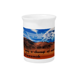 Native American proverb Beverage Pitcher