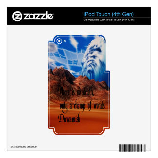 Native American proverb Decal For iPod Touch 4G