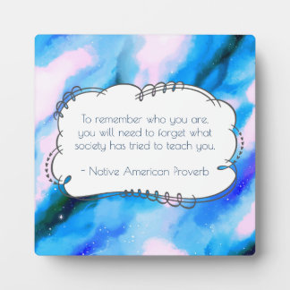 Native American Proverb Inspirational Wise Saying Plaque