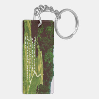 Native American Proverb Double-Sided Rectangular Acrylic Keychain