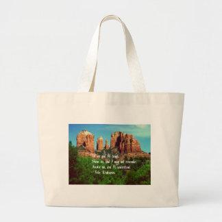 Native American Proverb Large Tote Bag