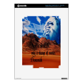 Native American proverb Skin For iPad 3