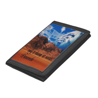 Native American proverb Tri-fold Wallet