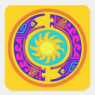 Native American Rainbow Spirits Square Sticker