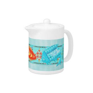 Native American River Folk KITCHEN SET Teapot