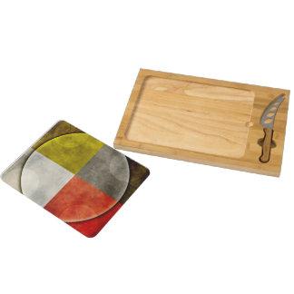 Native American Sacred Hoop Rectangular Cheeseboard
