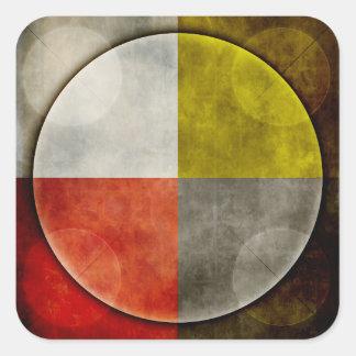 Native American Sacred Hoop Square Sticker