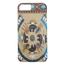 """Native American Sandpainting"" Western iPhone 7 ca iPhone 8/7 Case"