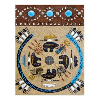 """Native American Sandpainting"" Western Postcard"