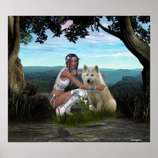 Native American Scenes Poster