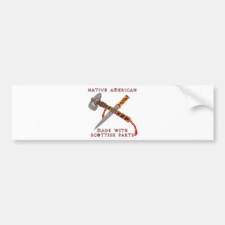Native American/Scots Bumper Sticker