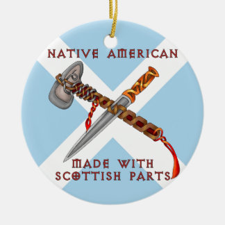 Native American/Scots Ceramic Ornament