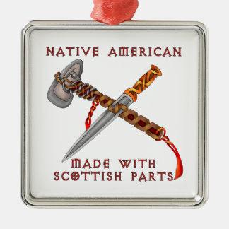 Native American/Scots Metal Ornament