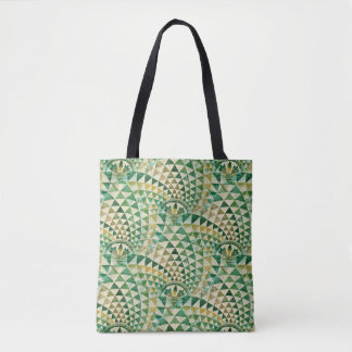 Native American seamless tribal pattern green Tote Bag