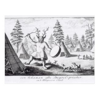 Native American Shaman Postcard