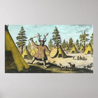Native American Shaman Print