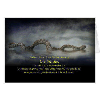Native American Sign of the Snake Card