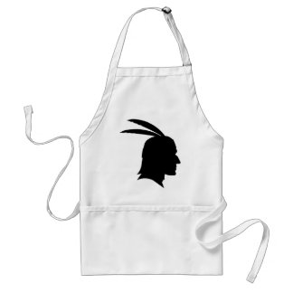 Native American Silhouette Adult Apron