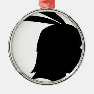 Native American Silhouette Metal Ornament