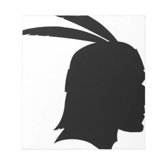 Native American Silhouette Notepad