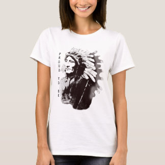 Native American Sioux Chief Whirling Horse T-Shirt